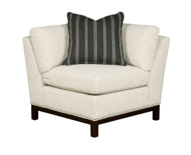 Hudson Corner Chair  - Wood Base / Grade 1