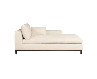 Hudson Chaise - Right Arm Facing / Wood Base / Grade 1