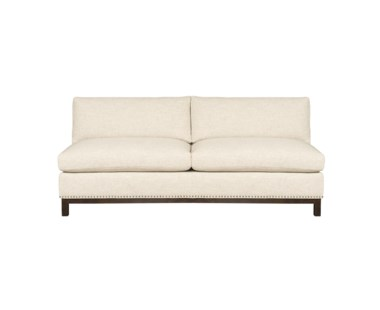 Hudson Armless Loveseat  - Wood Base / Grade 1