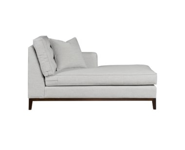 Copeland  Chaise - Right Arm Facing / Wood Base / Grade 1