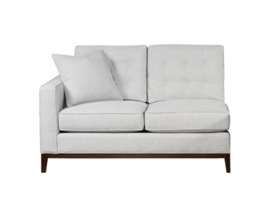 Copeland Loveseat - Left Arm Facing / Wood Base / Grade 1
