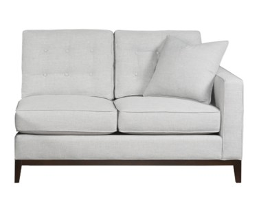 Copeland Loveseat - Right Arm Facing / Wood Base / Grade 1