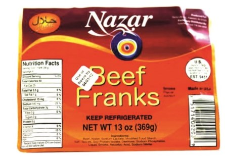 BEEF FRANKS 13OZx16