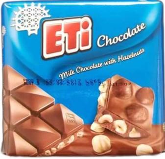 MILK CHOCOLATE W/HAZELNUT 75GRx6