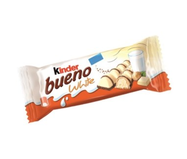 BUENO WHITE CHOCOLATE W/HAZELNUT 39GRx30