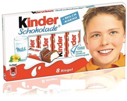 KINDER CHOCOLATE 100GRx40