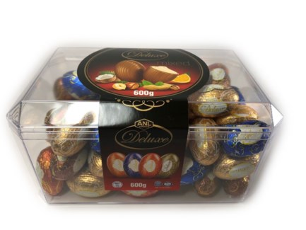 DELUX MIX ASSORTED EGG CHOCOLATE 600Gx12