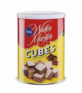CUBE WAFERS CHOCOLATE 220GX12