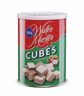 CUBE WAFERS HAZELNUT 220GX12