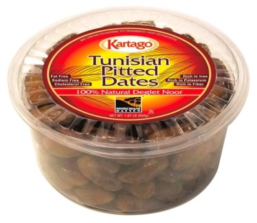 DEGLET PITTED DATES (850G) 30OZx12
