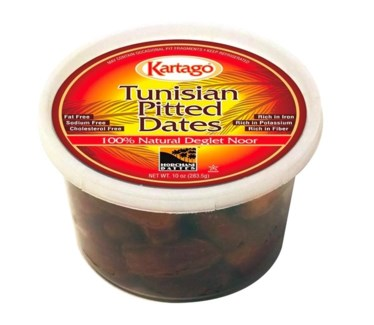 DEGLET PITTED DATES (283G) 10OZx24