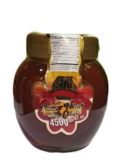 BLOSSOM HONEY JAR W/COMB 450GRx12