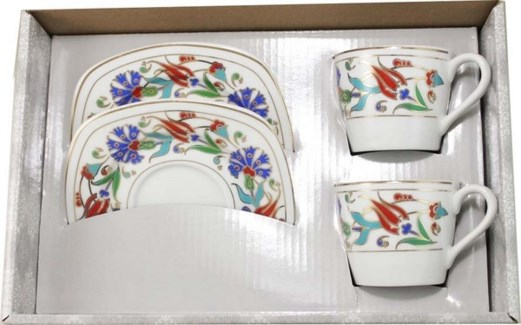 PORCELAIN TWO PIECES COFFEE SET (IPEK001) 3PCX1