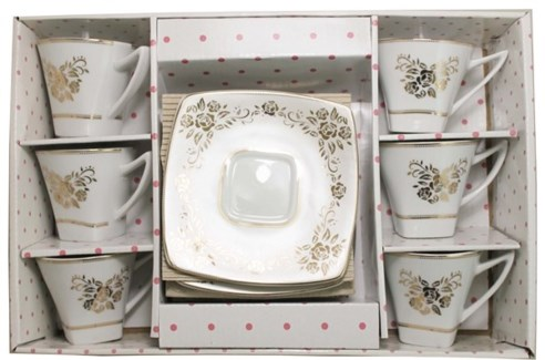 PORCELAIN COFFEE SET (44749) 6PCX1
