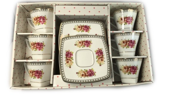 PORCELAIN COFFEE SET (44740) 6PCX1