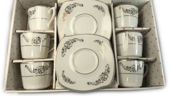 PORCELAIN COFFEE SET (44625) 6PCX1