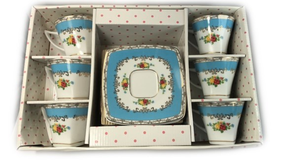 PORCELAIN COFFEE SET (44634) 6PCX1