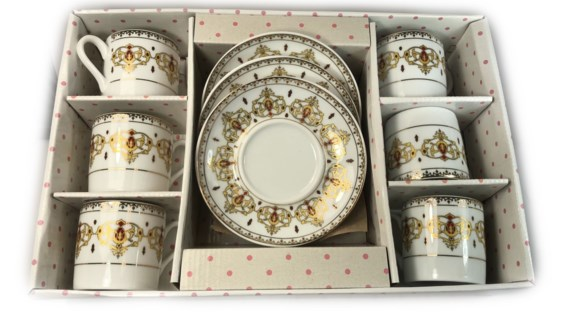 PORCELAIN COFFEE SET (44282) 6PCX1