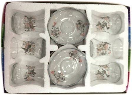 EMIR DOGA GLASS TEA SET 12PCSX1