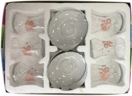 EMIR PUDRA GLASS TEA SET 12PCSX1