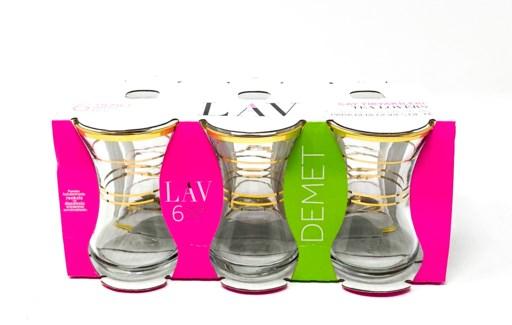 DMT 303 AGIZ YALDIZ TEA GLASS 6PCSX8
