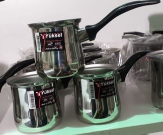 STEEL TURKISH COFFEE POT #4 1PC