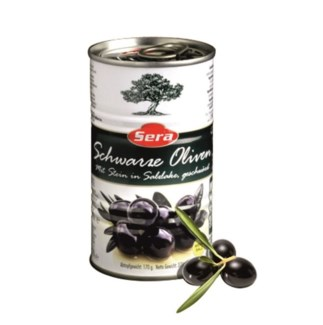 WHOLE BLACK OLIVES 370GRx24