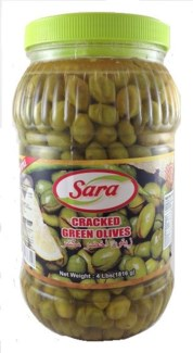 GREEN CRACKED OLIVE HOMESTYLE 4LBx6