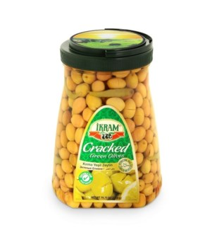 GREEN CRACKED OLIVES 1500GRx6
