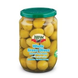 WHOLE GREEN OLIVES 720GRX12 JAR