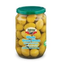 WHOLE GREEN OLIVES 720GRX12 JAR