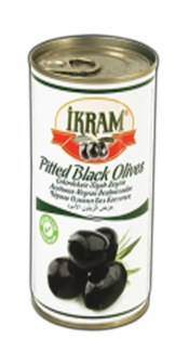 PITTED BLACK OLIVES 370GRX24 TIN