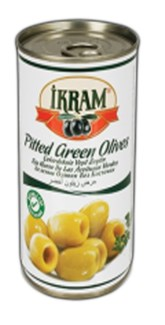 PITTED GREEN OLIVES 370GRX24 TIN