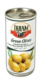 WHOLE GREEN OLIVES 370GRX24 TIN