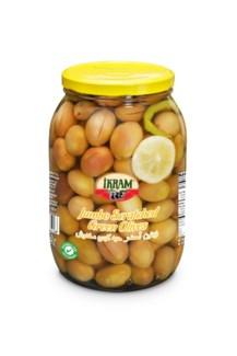GREEN SCRATCHED JUMBO OLIVES 2000GRx6 JAR (SUMMER PROMO)