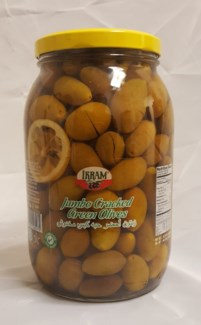 GREEN QUEEN CRACKED OLIVES 2000GRx6 JAR (BIG PROMO)