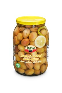 GREEN SCRATCHED JUMBO OLIVES 2000GRx6 JAR
