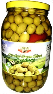 GREEN CRACKED OLIVES 2000GRx6 JAR 2018