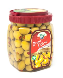 GREEN OLIVES WITH PEPPER 800GRx8