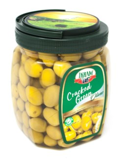 GREEN OLIVES CRACKED 800GRx8