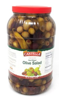 HOT PITTED OLIVE SALAD 4x1KG PET