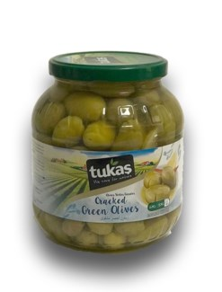 GREEN CRACKED OLIVES  1700GRx6