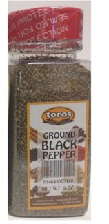 GROUND BLACK PEPPER 7.05OZx12