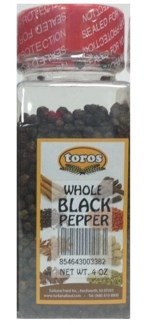 WHOLE BLACK PEPPER 6.17OZx12