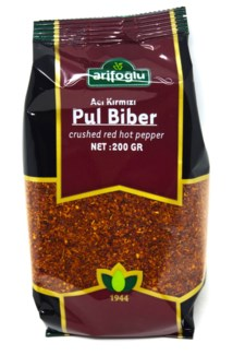 CRUSHED RED HOT PEPPER 200GRx16