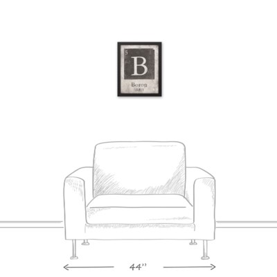 Vintage Boron Element 11x14 Black Framed Canvas - framed canvas ...