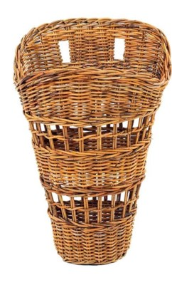 French Country Open Weave Wall Basket
