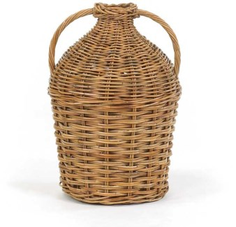 French Country Double Handled Bottle Basket
