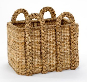 Large Rectagular Rush Basket