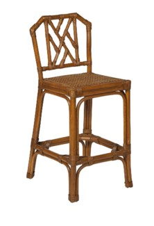 Chippendale Rattan Counter Stool